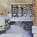 Snowy Ironwork Poster by Patsy Sharpe
