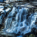 Snowy Waterfall Print by Jahred Allen
