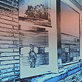 Solarizied Train Station Window Reflection Poster by ImagesAsArt Photos And Graphics