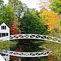 Somesville Bridge in Autumn Print by Debbie Lloyd