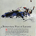 Somewhere West Of Laramie Poster by Ira Shander