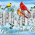 Songbirds Fence Poster by JQ Licensing