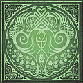 Soul Mates - Green Poster by Cristina McAllister