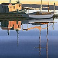 South harbour reflections Print by Gary Giacomelli