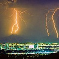South Mountain Lightning Strike Phoenix AZ Poster by James BO  Insogna