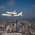 Space Shuttle Endeavour Over Houston Texas Poster by Movie Poster Prints