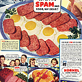 Spam 1960s Usa Hormel Meat Tinned Print by The Advertising Archives