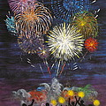 Sparklers Print by Cynthia Ring