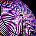 Spinning Disk Print by Joan Carroll