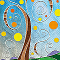 Spiralscape Print by Shawna  Rowe