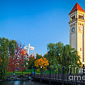 Spokane fall colors Print by Inge Johnsson
