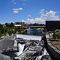 Spokane Falls and Riverfront Poster by Michelle Calkins