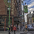 Spring and Mulberry - Street Scene - NYC Poster by Madeline Ellis