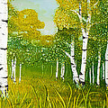 Spring Aspen Poster by Wendy Wilkins