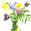Spring Bouquet III Print by Kip DeVore