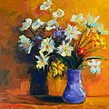 Spring Flowers in a Vase Poster by Patricia Awapara