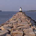 Spring Point Ledge Lighthouse Print by Bruce Roberts
