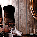 Spurs on Cowboy Boots Heels Poster by Olivier Le Queinec