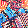 Squeezebox Blues Poster by Robert Ponzio
