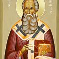 St Athanasios the Great Poster by Julia Bridget Hayes