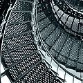 St Augustine Lighthouse Staircase Print by Christine Till