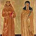 St. Francis of Assisi and St. Clare Print by Joseph Malham