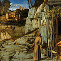 St Francis of Assisi in the Desert Poster by Giovanni Bellini