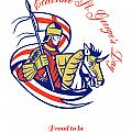 St. George Day Celebration Proud to Be English Retro Poster Poster by Aloysius Patrimonio