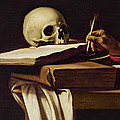 St. Jerome Writing Print by Caravaggio