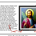 St. Jude Patron of Hopeless Cases - Prayer - Petition Poster by Barbara Griffin