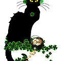 St Patrick's Day - Le Chat Noir Poster by Gravityx Designs
