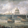St. Paul's Cathedral from the Southwark Bank Print by Richard Willis