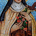 St. Theresa Mosaic Print by Andrew Fare