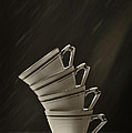 Stack Of Cups Poster by Amanda And Christopher Elwell
