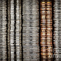 Stacked coins Print by Elena Elisseeva