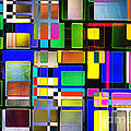 Stained Glass Window II Multi-Coloured Abstract Print by Natalie Kinnear