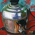 Stainless Steel Cooker of Eggs Print by Jennie Traill Schaeffer