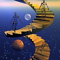 Stairway to imagination Print by Claude McCoy