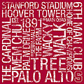 Stanford College Colors Subway Art Print by Replay Photos