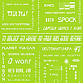 Star Trek Remembered in Green Poster by Nomad Art And  Design