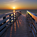 Stars on the Boardwalk Print by Debra and Dave Vanderlaan