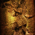 Statue Of Angel Print by Amanda And Christopher Elwell