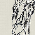 Statue of Liberty New York Print by Ginette Callaway