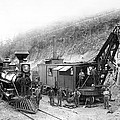 STEAM LOCOMOTIVE and STEAM SHOVEL 1882 Poster by Daniel Hagerman