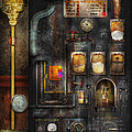 Steampunk - All that for a cup of coffee Print by Mike Savad
