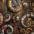 Steampunk - Clock - Time machine Print by Mike Savad