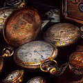 Steampunk - Clock - Time worn Print by Mike Savad