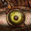 Steampunk - Creepy - Eye on technology  Print by Mike Savad