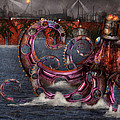 Steampunk - Enteroctopus magnificus roboticus Print by Mike Savad