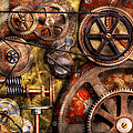Steampunk - Gears - Inner Workings Print by Mike Savad